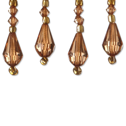 """1"""" Teardrop Bead - Bronze"""