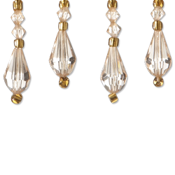 "1"" Teardrop Bead - Light Gold"
