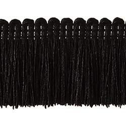 "1½"" Brush Fringe - Black"