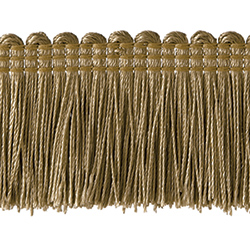 "1½"" Brush Fringe - Dark Beige"