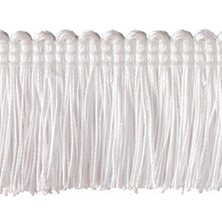 "1½"" Brush Fringe - White"