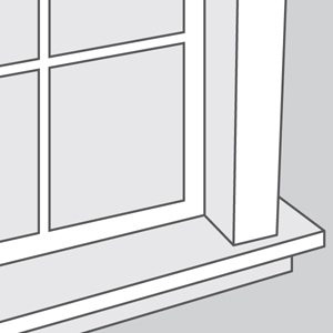 Window with Molding and Sill