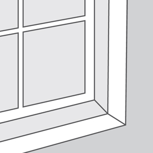Window with Molding, Without Sill