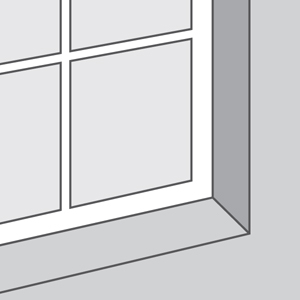 Window Without Molding or Sill