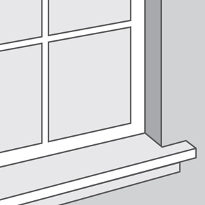 Window Without Molding, with Sill